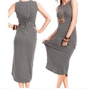 CAbi twist back dress #313 L